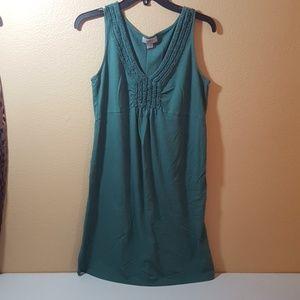 Loft green cotton dress size M